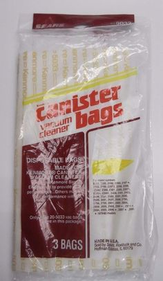 SEARS Kenmore Canister Vacuum Cleaner Bags - 205033 - 3 BAGS - 20-5033 #Kenmore