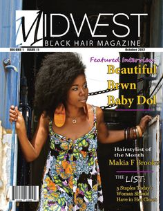 Wondrous June Cover Of Midwest Black Hair Magazine Magazine Covers Hairstyle Inspiration Daily Dogsangcom