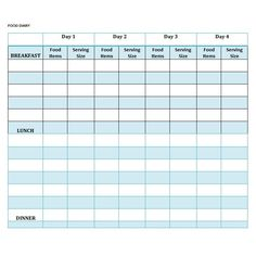 Food Journal Template Free This Is A Free Printable Food Diary Template With A Difference .
