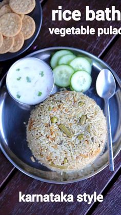 rice bath recipe, karnataka style vegetable rice bath, rice bhath with step by step photo/video. unique way of making flavoured & tasty rice pulao recipe. Bath Recipes, Veg Recipes, Spicy Recipes, Curry Recipes, Vegetarian Recipes, Cooking Recipes, Chicken Recipes, Lunch Box Recipes, Sausage Recipes