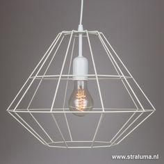 Scandinavische witte hanglamp Diamond - www.straluma.nl