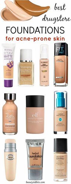 Best Drugstore Foundations For Acne-Prone Skin! #Beauty #Trusper #Tip
