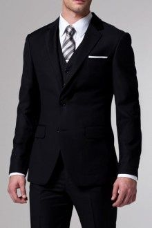 The Essential Black 3 Piece Suit