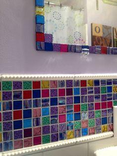 turquoise mosaic tile design at susan jablon- such a pretty design
