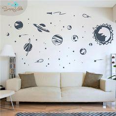 Solar System - Vinyl Wall Decal. $49.99, via Etsy.