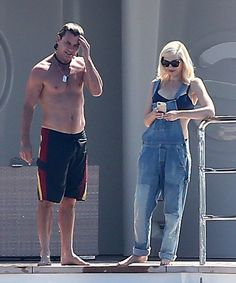 Gavin Rossdale and Gwen Stefani were poolside in Saint-Tropez on Friday.