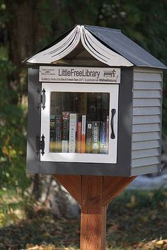 WASHINGTON, Spokane #2410 I love the roof on this little library!