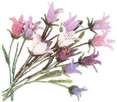 полевые цветы из бисера фото схемы