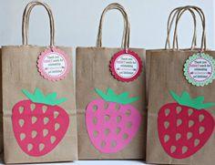 ^^ strawberry shortcake party birthday goody bags by ILoveYouBunches