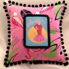 Kitsch Divine John Waters Pink Flamingos Throw Pillow on Etsy, 19,46 €