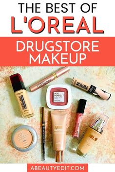 L'Oreal cosmetics company offers a huge range of drugstore makeup products, all at affordable prices.  The best of L'Oreal includes foundations, concealer, blush, mascara, lip gloss and more! #loreal #drugstoremakeup #makeupproducts Best Drugstore Makeup, Drugstore Skincare, Makeup Dupes, Best Makeup Products, Mascara, Eyeliner, Eyeshadow, Cosmetic Companies, Loreal