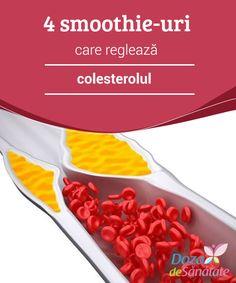 4 #smoothie-uri care #reglează #colesterolul  Pe lângă consumul acestor smoothie-uri și adoptarea unei #alimentații sănătoase, este important să urmezi tratamentul prescris de medicul specialist. How To Lose Weight Fast, Cocktails, Personal Care, Health, Medicine, Cholesterol, Diet, Craft Cocktails, Health Care
