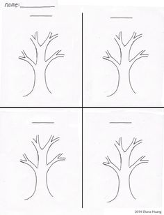 Four Seasons Tree Drawing template worksheet by Diana-Huang on DeviantArt Weather Activities For Kids, Seasons Activities, Tree Templates, Drawing Templates, Drawing For Kids, Art For Kids, Seasons Worksheets, Free Worksheets, Four Seasons Art