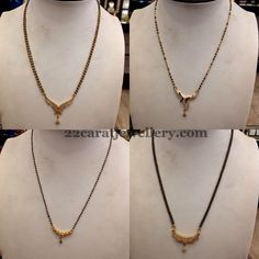 11gms Black Beads Sets Gallery   Jewellery Designs