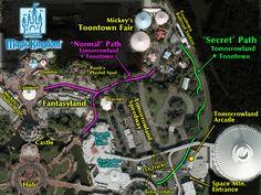 Disneyland secret paths Disneyland Honeymoon, Disneyland 2015, Disneyland Parks, Disneyland Ideas, Disneyland Secrets, Disney 2015, Disney Secrets, Disney Land, Disney Tips