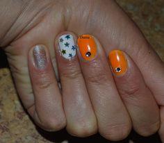 Summer nail ! Nail art ! Orange nails ,Manicure