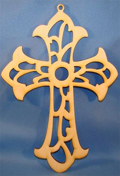 scroll cross cutout | Unfinished Cross with Scroll Work Wood Cutout| Wood Cutout | Wooden ...