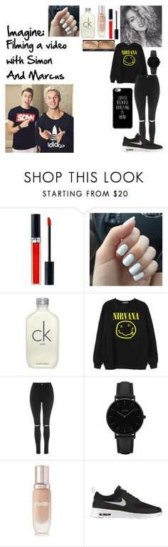 """Imagine Filming a video with Simon And Marcus"" by skateisbae ❤ liked on Polyvore featuring Christian Dior, Calvin Klein, Chicnova Fashion, Topshop, CLUSE, La Mer, NIKE and NARS Cosmetics"