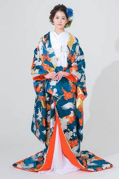 Traditional Wedding Attire, Traditional Fashion, Wedding Kimono, Yukata, Character Design, Cosplay, Japan, Inspiration, Fantasy