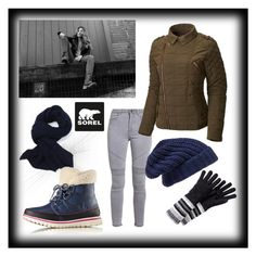 """""""Tame Winter with SOREL: Contest Entry"""" by purplemangs on Polyvore featuring SOREL, Hinge, Smartwool and sorelstyle"""