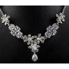 Exklusiver Brautschmuck - edel Kristallset zur Hochzeit