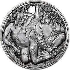 Midsummer Nights Dream Silver Medallion by John Pinches -