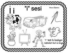 Preschool Printables, Preschool Activities, Montessori, Learn Turkish, Kindergarten, Letters, Education, Learning, Studying