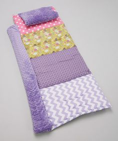 Little lovelies will be napping in a world of comfort thanks to this oh-so adorable mat. The thick material provides ample cushioning for the body, while a fun pattern sends sweeties into slumber with joyful thoughts. The attached pillowcase and blanket make cuddles even more convenient. Add a personalized name tag, which can easily be seen when the mat is rolled up, for keeping track of this truly fantastic piece.