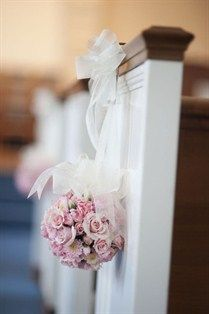 Pink wedding ceremony aisle decor. | Romantic  Pink Wedding Inspir...
