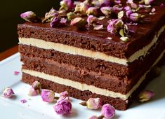 Perfect for anything from a dinner party to a casual afternoon tea, this Opera Cake is a show stopper and will not disappoint! Cakes To Make, How To Make Cake, Opera Cake, Cake Recipes, Dessert Recipes, Decadent Cakes, British Baking, Unique Recipes, Vintage Recipes