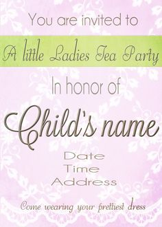 Measured by the Heart: Printable invitation
