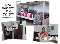 From Bunks to a Loft... A Boy's Room Makeover