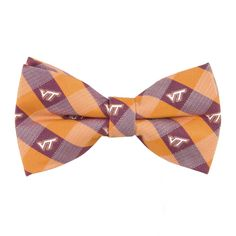 Virginia Tech Hokies Team Check Bow Tie Pre-Tied Adjustable Eagles Wings