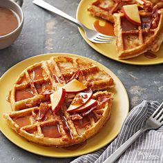 Special Ingredient: Bacon and apples Instead of serving waffles, bacon, and apples, why not combine all three? Again, the waffle iron continues to make meal time much more efficient.