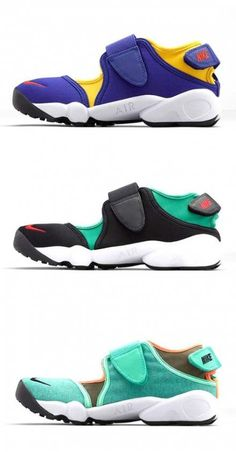11b5f48a9b NEW Nike Air Rift MTR Blue White Split Toe Running Shoes Mens 7 10 ...