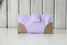 Lavender Polkadot Women's Wallet // Clutch Wallet // Limited Edition