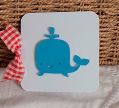 Boy Baby Shower Thank You Cards Notes Whale by CardinalBoutique, $70.00