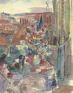 Jean Dufy - Vue depuis l'atelier de Jean Dufy