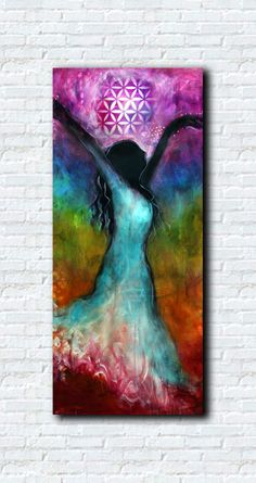Chakra Dance - Abstract Art by Tara Catalano- not this, but the mix of colors in the form vs bg is so cool!