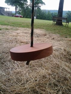 Handcrafted swing for the playhouse