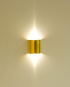 Seinävalaisin SX LED 1W kullattu kylmä sävy