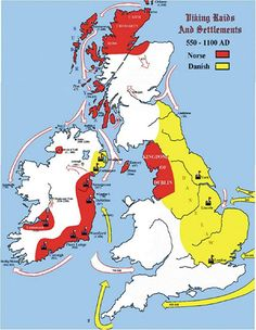 Viking Raids and Settlements 550-1100 AD