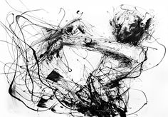 Agnes Cecile's series of abstract and loose style of watercolor paintings from Rome, Italy. Check out her website for several more paintings.