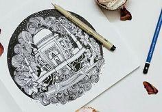 Symbol of love... TAJ  #indiasbeautifulplace #historicplace #cluture #grief #symboloflove #peace #illustrationworld #mystyleillustration… Love Symbols, Indian Art, Art Tutorials, Cool Drawings, Art Sketches, Creative Art, Art Inspo, Painting & Drawing, Amazing Art