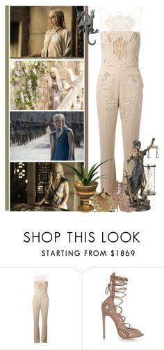 """Daenerys Targaryen - Mother of Dragons"" by fashionqueen76 ❤ liked on Polyvore featuring Zuhair Murad, Alaïa, WALL, GameOfThrones and DaenerysTargaryen"
