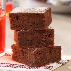 Super Spud Brownies Recipe -These moist and cakey brownies came from my mom's old cookbook. Mashed potatoes may seem like an unusual ingredient, but this recipe took first place at a local festival. Diabetic Desserts, Just Desserts, Dessert Recipes, Dessert Bars, Diabetic Recipes, Diabetic Foods, Bar Recipes, Copycat Recipes, Healthy Desserts