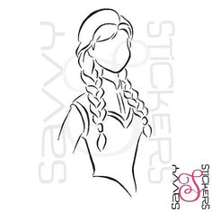 Princess Anna Frozen Vinyl Sticker / Decal by SavvyStickers