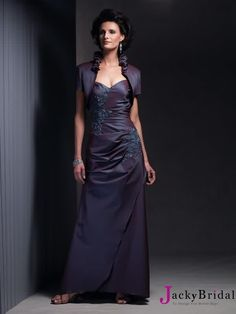 A Line Sweetheart Lace Satin Mother Of The Bridal Dress AMT0336