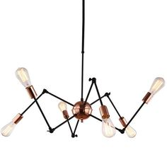 check price modern loft suspension spider pendant lights with 68 heads industrial style led pendant lamp #light #pipe