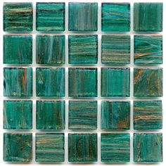 Gorgeous emerald color tiles. I can just picture a bathroom in this and feeling like I'm in a lush paradise.